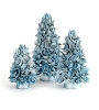 Cotton Pod Cone Tree w/Wooden Beads (Chateau Blue)