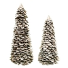 Frosted Butterfly Leaf Cone Tree (Natural White Wash)