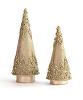 Glass Bead Cone Tree (Champagne Gold)