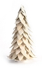 Capiz Flakes Leaf Cone Tree (Pearl White)