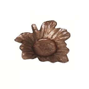 Capiz Mini Maple Leaf Candle Plate (Light Brown)