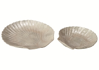 Capiz Scallop Dish Tray Set/2 (Natural White)