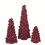 Layered Cotton Pod Cone Tree (Red)