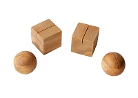 Round Wood Placecard Holder - Set/4 (Natural)