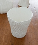 Fine Bone China Pleated Votive/Vase - White