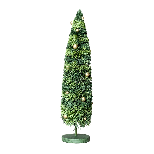 16 recycled paper christmas tree green gold for Green and gold christmas tree