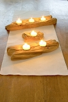 Reclaimed Wood Flat Wood Tealight Candleholder