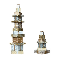 Recycled Gift Tower (Silver/Gold)
