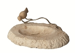 Soapstone Oval Tray with Bird on Wire (Natural)