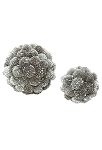 Sunflower Pod Ball Ornaments (Silver)