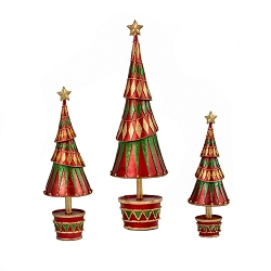 Carnival Tree with Drum Base (Traditional Red)