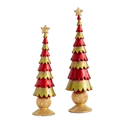 Plain Scallop Tapered Tree (Red/Citron)