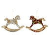 Panache Rocking Horse Orn (Red/Citron)