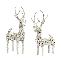 Natural Vine Reindeer (White)