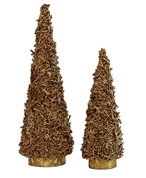 Paper Twine Cone Tree (All Gold)