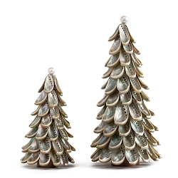 Abalone Shell Cone Tree with Pearl Topper (Natural)