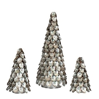 Abalone Beaded Shell Cone Tree (Natural)