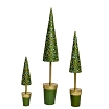 Beaded Dotted Vine Topiary Tree (Evergreen) 9