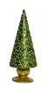 "9"" Beaded Dotted Vine Cone Tree (Evergreen)"