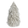 Flocked Twig Cone Tree w/Pods (White/Champagne) 18