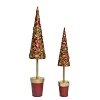 Floral Bloom Topiary Tree (Trad. Red) 13