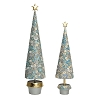 Floral Dream Neo Topiary Tree w/Star (Silver Sky) 13