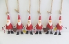 Mini Santa Figures S/6 (Red)