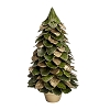Potted Butterfly Leaf Mix Cone Tree (Green & Gold)