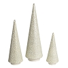 Glass Bead Cone Tree (White)