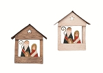 Wooden Nativity House Ornament