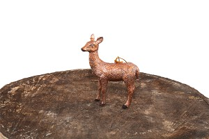 "3.75"" Forest Doe Ornament (Pink Dream)"