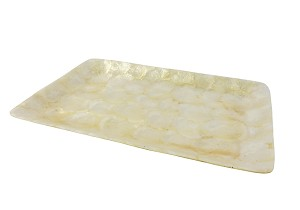 "15"" Capiz Rectangular Large Tray"