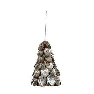 "4"" Abalone Shell Cone Tree Orn (Natural)"