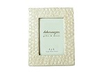 4x6 Embossed Capiz Frame (Natural White)