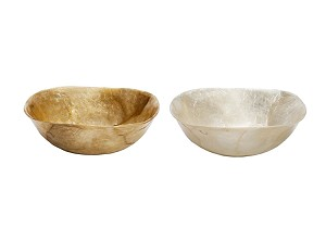 4.25 Capiz Square Shallow Sauce Bowl