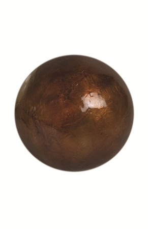 "4"" Capiz Ball - Solid - Brown"