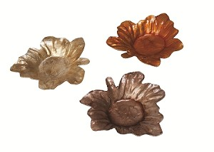 Capiz Mini Maple Leaf Candle Plate