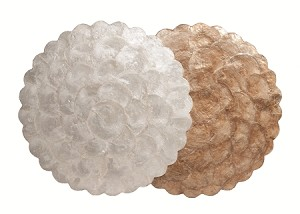 "16"" Capiz Scalloped Plain Round Charger"