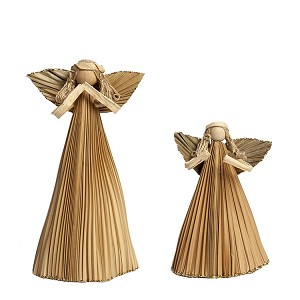 Anahaw Angel Ornament (Natural)