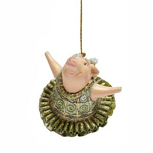 "4"" Ballerina Pig Ornament (New Moon)"