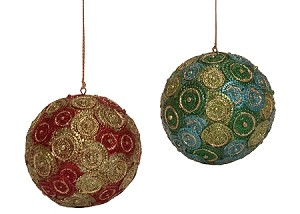 "3.5"" Cartwheel Ball Ornament"