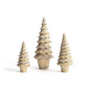 Layered Beaded Neo Cone Tree (Dark Champagne)