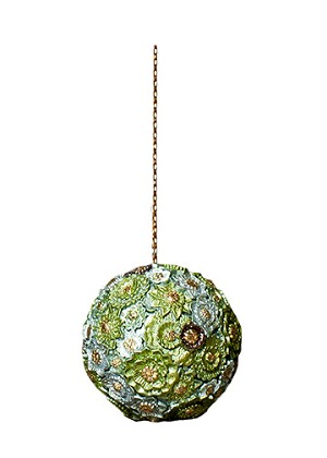 "3"" Floral Dream Ball ORN (New Moon)"