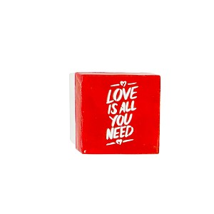 "3"" Capiz Box - Love is All You Need  (White/Red)"