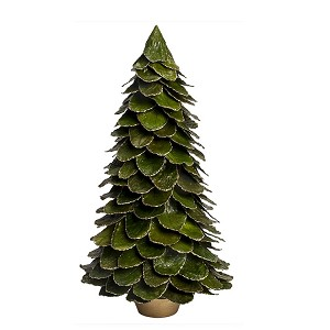 Potted Butterfly Leaf Cone Tree (Green/Gold)