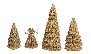 Layered Twine Cone Tree (Natural)