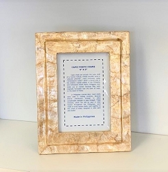 4x6 Capiz Solid Square Picture Frame (Smoke)